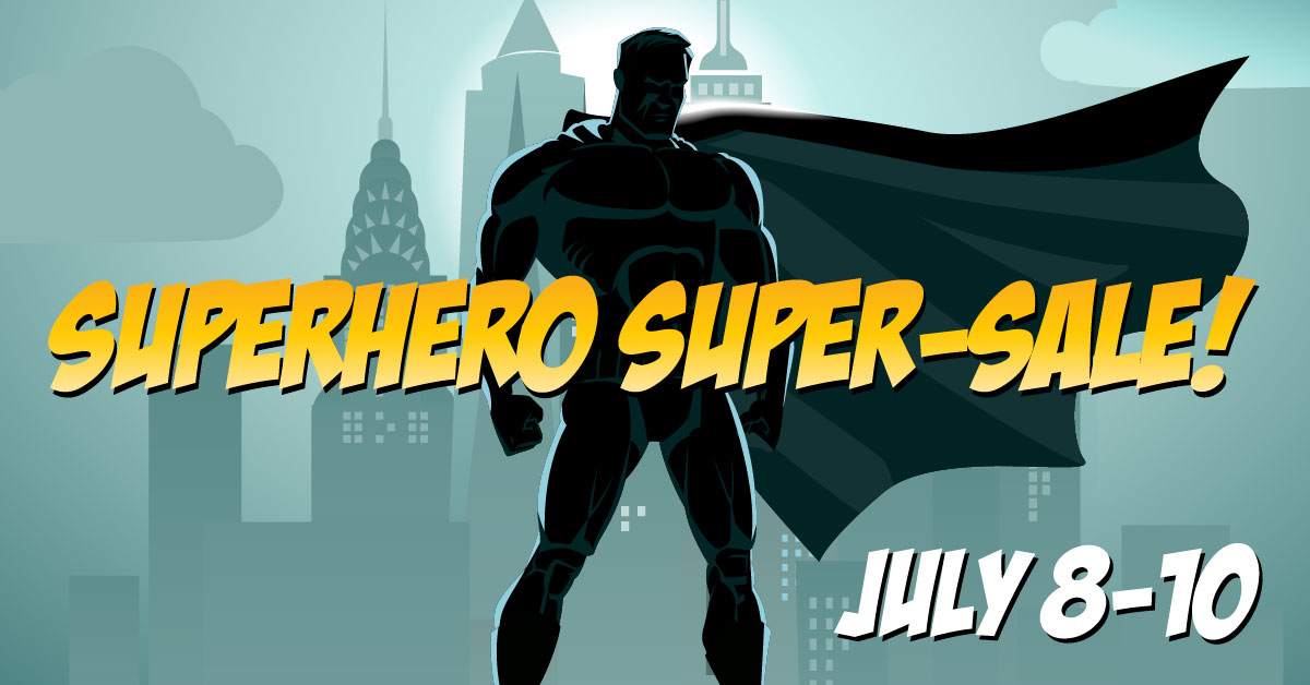 Superhero Novel Super-Sale Begins July 8th